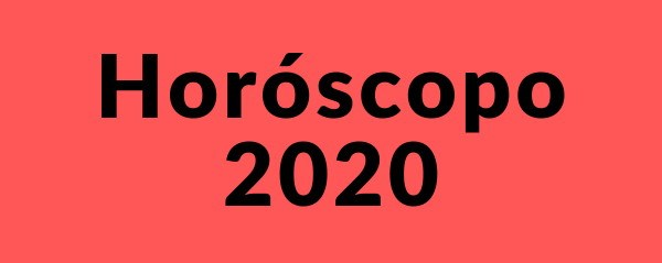 Horóscopo mensual 2020
